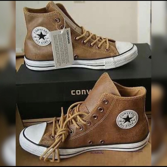 f2922a1ba081 Converse Other - Converse Brown Leather Hightop Shoes 10.5 Men s